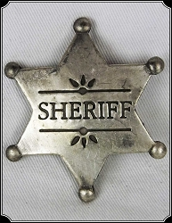 Badge - Sheriff 6 Pt. Star