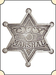 Badge - City Marshal  - 6 Pt. Star