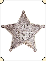 Badge - Capt. AZ Rangers - 5 pt. star