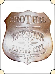 Badge - Brothel Inspector Kansas City - Shield
