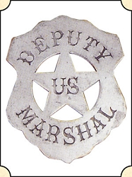 Badge - Deputy US Marshal - Shield Pierced Star