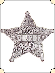 Badge - Lincoln Co. Sheriff - 5 pt. star