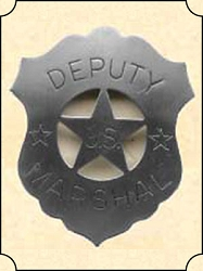 Badge - Tin shield - Dep. US marshal