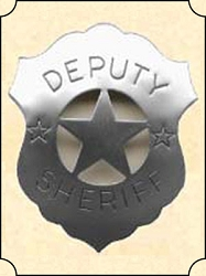 Badge - Tin shield - Deputy Sheriff