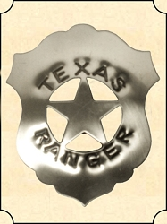 Badge - Tin Shield - Texas Ranger