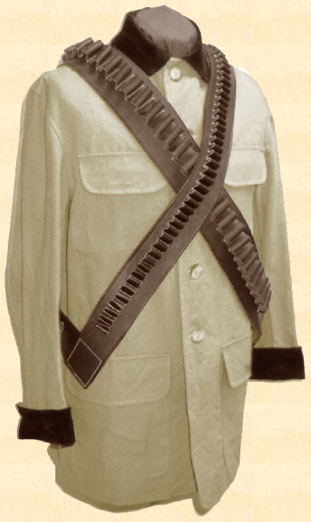Leather Bandolier -  45 Caliber