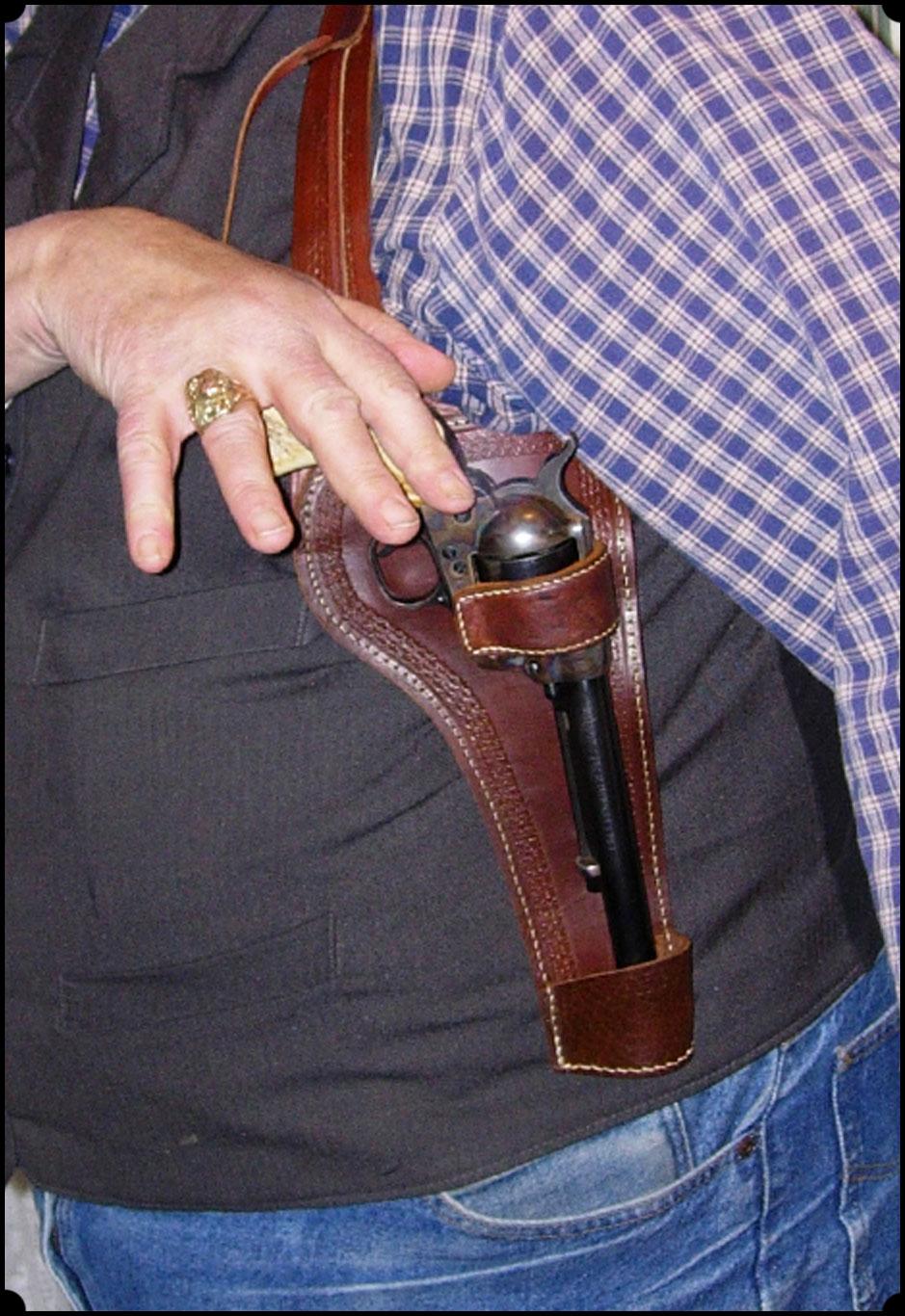 Sheriffs lightning spring holster - Shoulder Holster