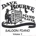 CD - Dave Bourne Saloon Piano Music CD - Vol. 1