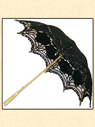 Ladies Large Victorian Lace Parasol