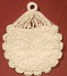 Reticule - Crocheted - Round Flower