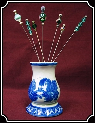 Z Sold- Jewelry - Porcelain Hat Pin Holder