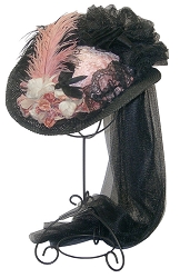 z Sold Ladies Hat - Ladies' French Derby-style Hat - Victorian Hat