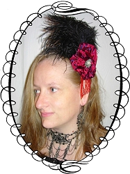 Ladies Hat - Rosette Evening Headdress