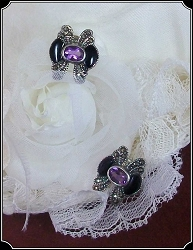 Jewelry - Sterling Silver -Amethyst Gemstone Earrings