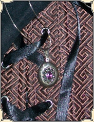 Jewelry - Sterling Silver - Marcasite - Amethyst Gemstone Locket