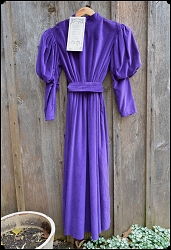 Recollections Violet Velvet Dress - Size Medium