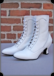 z-Sold Manufacturer's Close Out - Last of White Boots ~  Ladies Veil Shoe