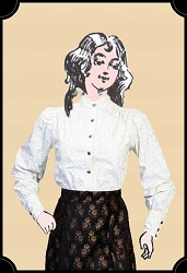 Blouse - The Perfect All-occasion Ladies Victorian Blouse - Wah-Maker Brand