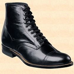 Boots - Men's Hi-Top Dress Shoe - Leather
