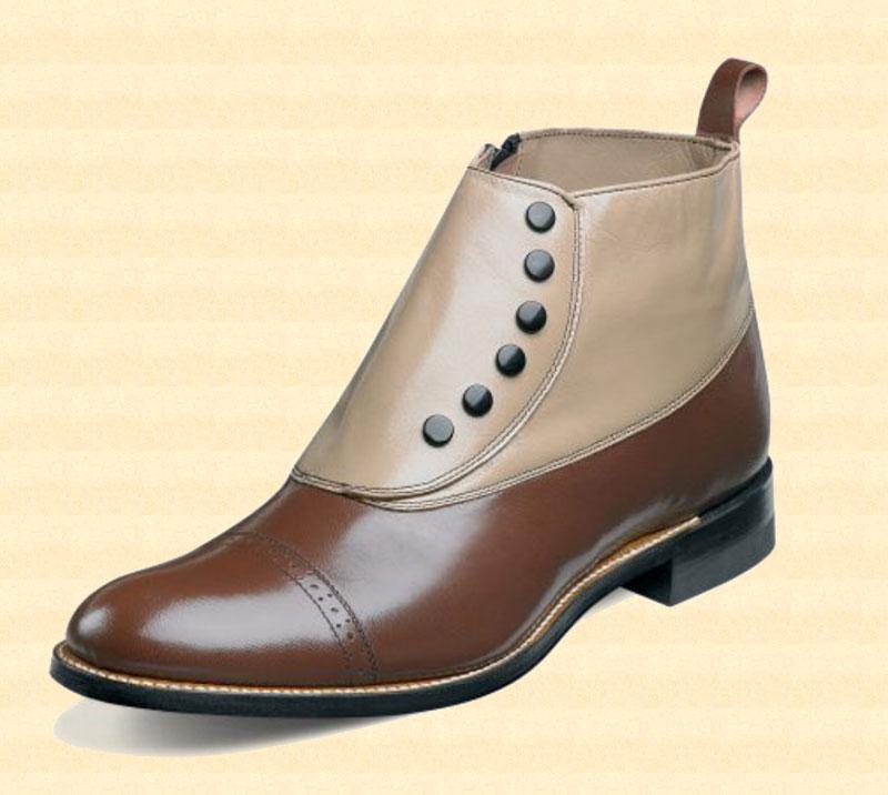 mens side zip spat shoe