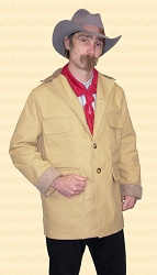 Coat - Rio Bravo Cowboy Coat - Unlined Canvas Shell - Heirloom