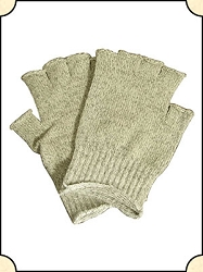Gloves - Wool-Knit Fingerless Gloves