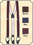 z-Sold Suspenders - Dress Elastic Suspenders