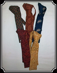 Tie - Narrow Teck Tie Paisley and Calicos