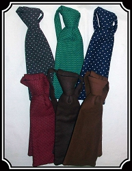 Z Sold Tie - Wide Teck Tie Solids and Polka Dots