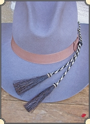 Men's Hat - Horsehair Stampede Strings - No Hat Hole Required