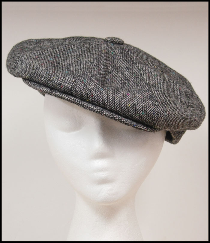 The Irish Cap is an authentic tweed cap. Wool blend often times called a  Newsboy Cap - Click to Enlarge Image a6e48c0921f