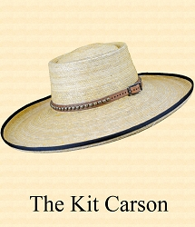 Men's Hat - Kit Carson straw hat