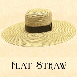 Men's Hat - Flat Straw Hat - 6