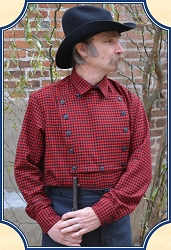 Shirt - Bib Front Cowboy Shirt - Wool - Heirloom Brand