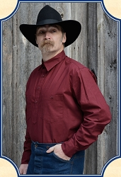 Shirt - Drover Cowboy Shirt Turkey Red Cotton Heirloom Brand