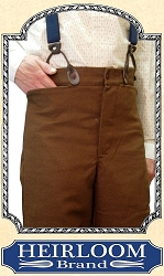 Trousers - Brown Cotton Duck Old West Pants Heirloom Brand