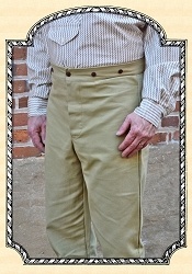 Trousers - Khaki Duck - Cotton - Heirloom Brand