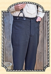 Trousers - Black - Worsted Wool - Heirloom Brand