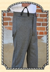 Trousers - Worsted Dark Grey Wool Heirloom