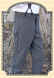 Trousers - Grey Herringbone Heirloom Brand Wool