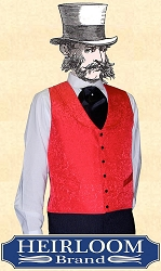 Vest - Riverboat Gambler's Vest - Brocade - Heirloom Brand