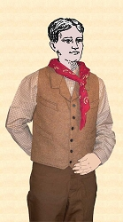 Vest - Last of Fabrics ~ Notched Lapeled Gentlemen's Vest - Worsted Wool - Heirloom Brand