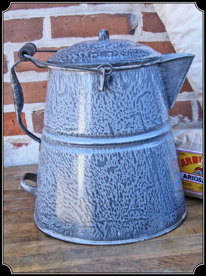 Cowboy Enamel Coffee Pot Click To Enlarge Image