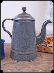 Campfire Coffee Pot in Speckled Enamel