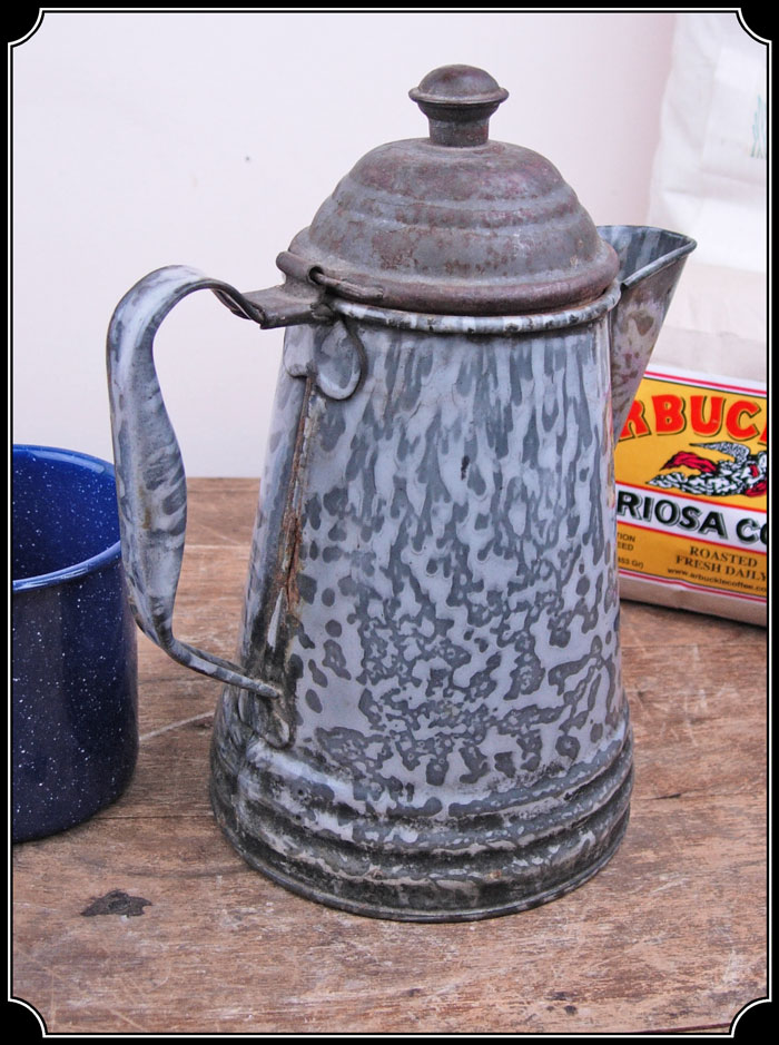 Vintage Coffee Pot Granite Wear