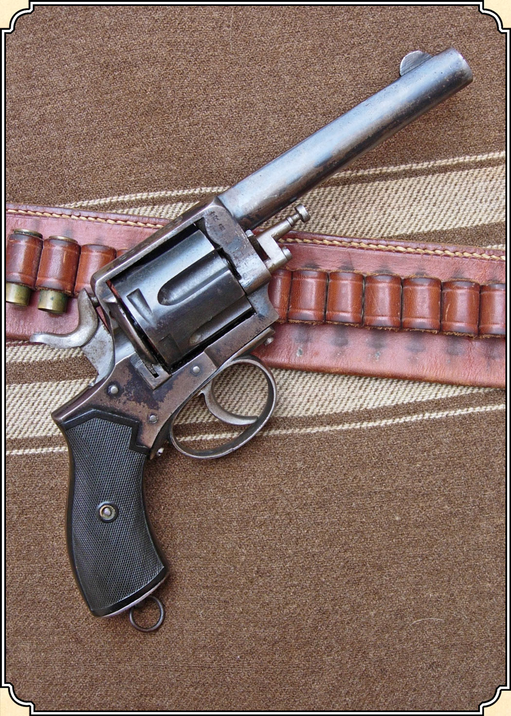 Antique Frontier Army Revolver with holster