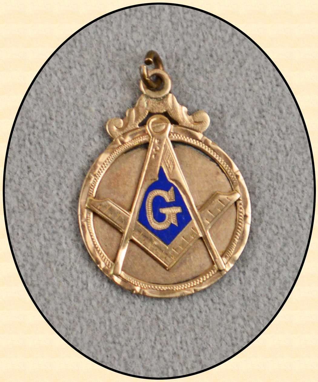 z Sold ~ Antique Masonic square & Compass 18K Gold Watch Fob | 1050 x 1258 jpeg 241kB