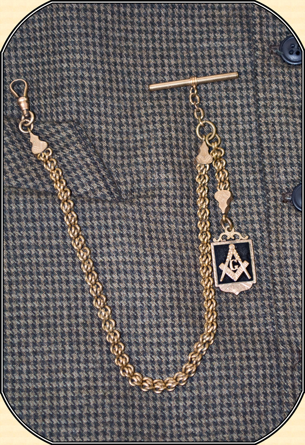 Z Sold Antique Gold Filled Victorian Watch Chain With