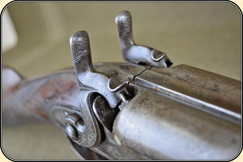 z Sold ~ 10 ga  William Moore double barrel muzzleloader