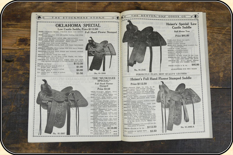 z Sold 1928 Cowboy gear catalog